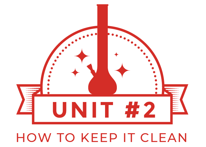 How To clean a bong unit 2